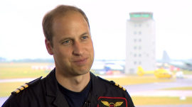 Prince William on new air rescue job, thoughts about a third baby