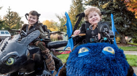 Dad makes epic costumes for kids in wheelchairs
