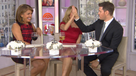 Cheers! Michael Buble is here (and he brought wine)