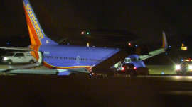 Southwest Airlines jet rolls off taxiway in Nashville; 8 injured