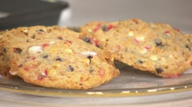 Make cornflake-chocolate chip-peppermint cookies for Christmas