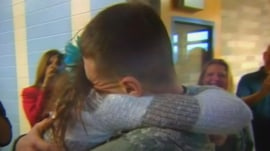 Christmas comes early as returning solider surprises sister at school
