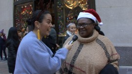 Deck the… what? Donna plays 'Finish the Lyric' with NYC tourists
