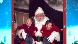 Not every kid loves sitting in Santa's lap