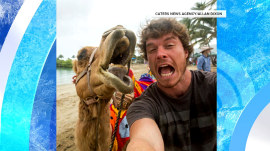 Meet the man who takes selfies with animals