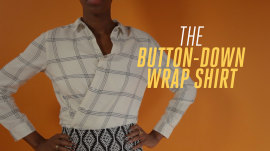 How to turn a baggy button-down into a stylish top