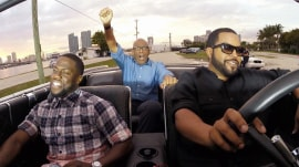 Ice Cube and Kevin Hart 'Ride Along' in a movie car with Al Roker in Miami
