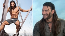 Zach McGowan teaches sword-fighting to Hoda and Jenna