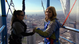Jenna sweats through an 829-foot drop: See all her Las Vegas adventures