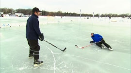 TODAY's Dylan Dreyer becomes a pond hockey pro! …Sort of