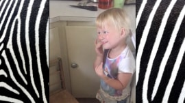 Yikes, stripes! Little girl turns baby sister into zebra with marker
