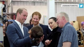 Prince William and Prince Harry visit 'Star Wars' set, meet Daisy Ridley