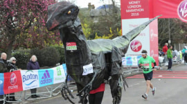 See the zaniest costumes from the London Marathon