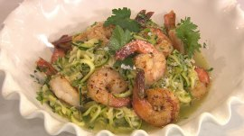 Shrimp scampi and zucchini noodles: Lauren Nolan shows how to make the meal