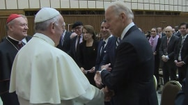 Joe Biden meets Pope Francis to talk about curing cancer