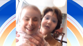 See what happens when Laura Bush swaps faces with baby Poppy