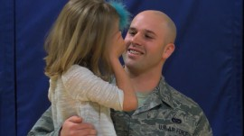 Girl, 7, surprised by military dad's homecoming at school assembly