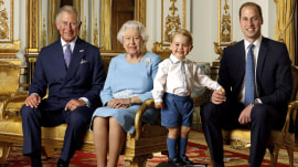 Royals stamp: Prince George steals photo of 4 generations for Queen's 90th