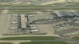 Drone strikes plane near London airport