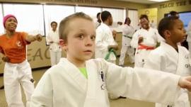 Rabbi uses martial arts to help kids kick cancer