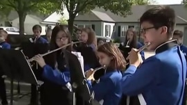 Band on the run: Classmates bring performance to recovering student