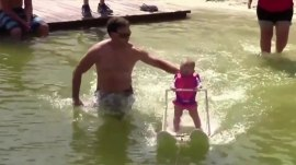 Watch: 6-month-old girl becomes 'youngest water-skier'