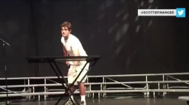 Teen flips a water bottle at talent show - and the Internet goes wild