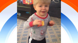 Kathie Lee's great-nephew takes his first steps!