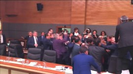 Watch: Fists fly in Turkish parliament