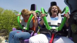 The Joker roller coaster: Watch Jill Martin's @#$!-filled ride