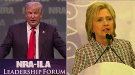 Donald Trump, Hillary Clinton clash over gun control