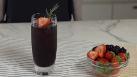 This berry-herb sangria is the perfect summer sipper