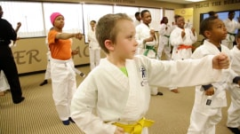 Learn how a rabbi is helping kids fight cancer through martial arts
