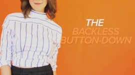 How to wear a backless button-down