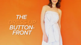 How to turn your shirt into a strapless dress