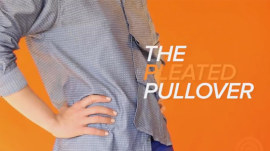 How to button a pleated top