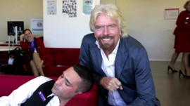 Richard Branson hilariously caught an employee sleeping on the job
