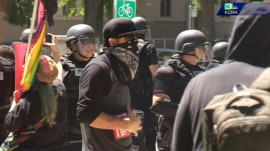 White supremacist rally stirs violent clash in Sacramento