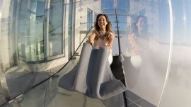 'Skyslide' takes you on a thrill ride 1,000 feet above LA