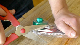 Open clamshell packaging in seconds with this trick