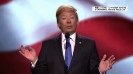 Jimmy Fallon impersonates Donald Trump, mocks Melania Trump