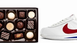 What movie used chocolate and shoes as key props?