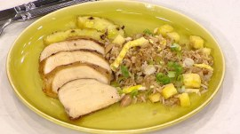 Grilled pineapple soy ginger chicken: Brandi Milloy shows how
