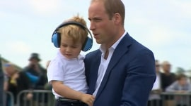 Prince William, Duchess Kate, Prince George attend air show