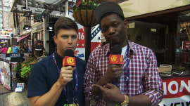 'SNL' at RNC: Weekend Update's Colin Jost, Michael Che crash convention