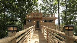 See inside a Frank Lloyd Wright-inspired treehouse