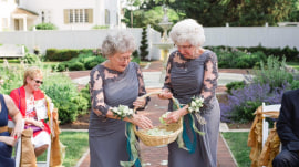 See how these grandmas rocked a wedding – as flower girls!