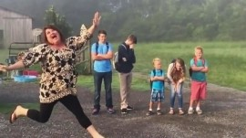 Back-to-school photos reveal jubilant parents (and despondent kids)
