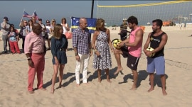 Footvolley: See TODAY anchors play Brazil's hands-off version of beach volleyball
