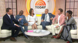 Willie Geist passes one of his 'many hats' to Billy Bush: TODAY's 3rd hour